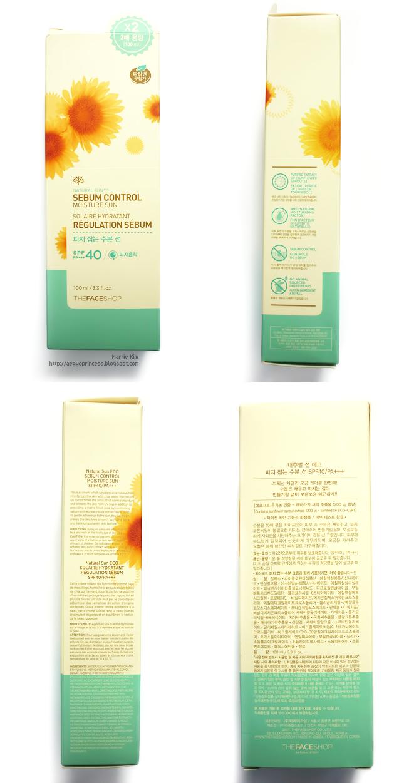 The Face Shop Natural Sun Eco Sebum Control Moisture Sun SPF40 PA+++ Review