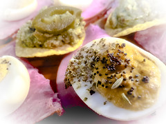 Deviled #Egg & #Guacamole #Jalapeño Chips - h…