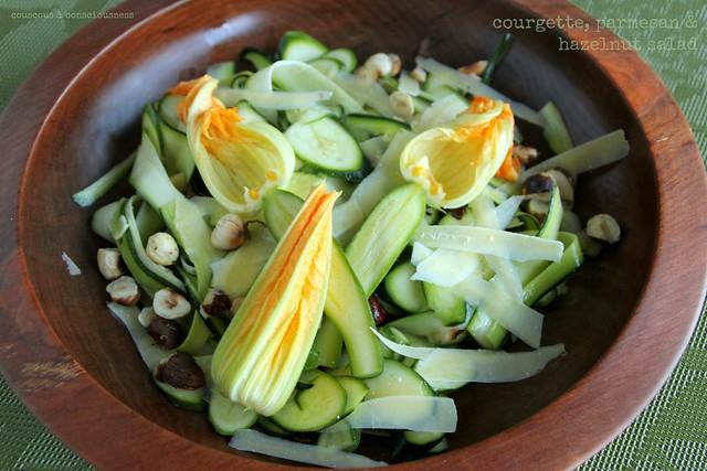 Courgette, Parmesan & Hazelnut Salad 1