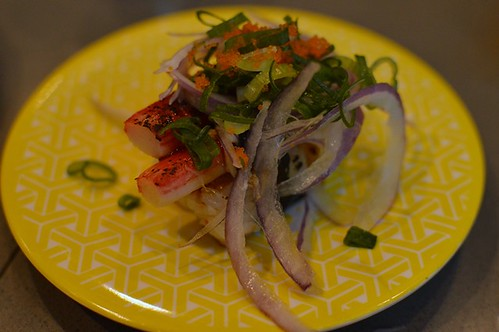 Crab aburi sushi