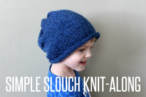 simple slouch knit along