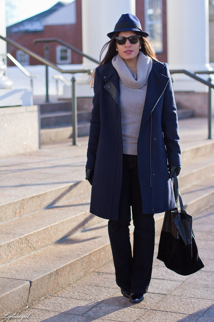 cowl neck sweater, flared jeans, navy coat-2.jpg
