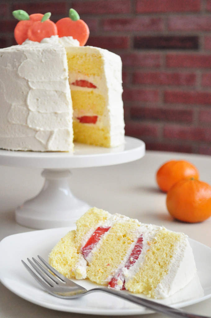 Orange Strawberry Cream Cake