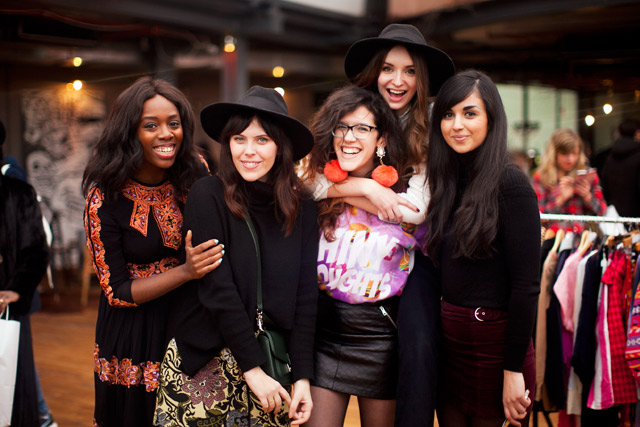 Kristabel, Carrie, Lucy, Olivia, Dunya - A group of fashion blogging friends