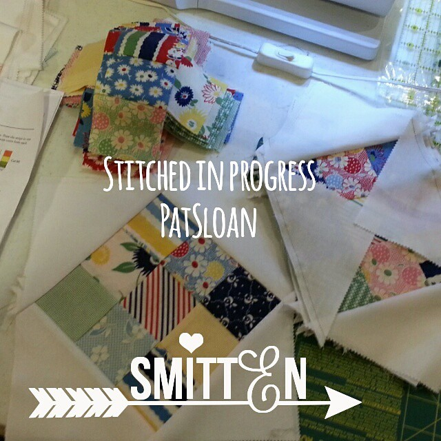 I love seeing how people work through making repeat blocks. This is my Stitched pattern from a quilter during the cruise. How do you stage multiple blocks? Pattern can be bought digital at http://blog.patsloan.com/pat-sloan-digital-store.html #quilt #patc