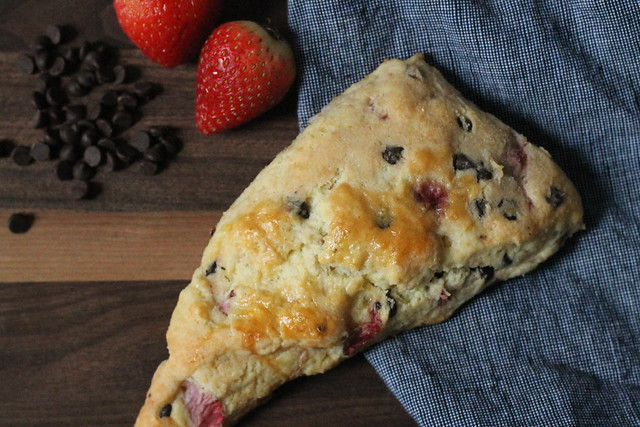 Strawberry Chocolate Scone
