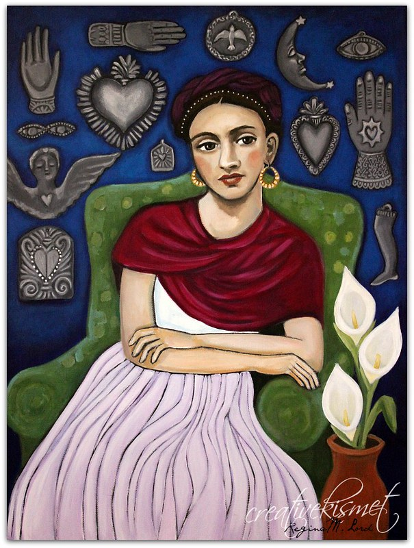 Frida and the Wall of Miracles - Art by Regina Lord