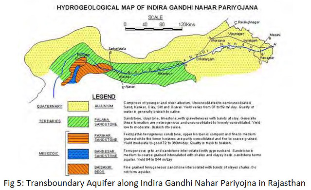 Transboundary Aquifer along Indira Gandhi Nahar Pariyojna in Rajasthan