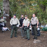 October 21, 2015 - 11:10 - The Pit is home to dozens of people who are homeless, most of whom struggle with addiction, mental illness or both. The grounds are littered with tents, garbage, stolen property, used hypodermic needles, and makeshift shelters. Every community has at least one place like The Pit. Snohomish County has dozens. After years of data and seeing the same faces over and over again, Snohomish County Sheriff Ty Trenary (along with dozens of other chiefs and sheriffs across the country) could see that the approach was not working. The county still had homeless people and mental illness in this population continued to go untreated. Problems related to drug or alcohol addiction not only continued, but were rising. The people sent to jail for trespass would come back out in two to three days and go right back to living on the street. As a result, Office of Neighborhoods deputies are charged with reaching out and trying to connect each person with service they need. Within the first month of the unit being fully staffed, they made over 200 individual contacts in the field. The hope in Snohomish County is that the new approach by Office of Neighborhoods stops funneling vulnerable populations into jail and instead into the services they need. Credit: Shari Ireton, Snohomish County Sheriff's Office