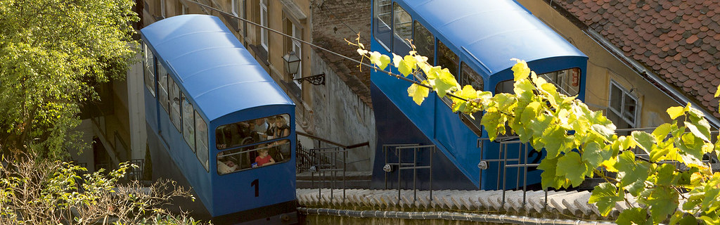 Blue cable car in Zagreb-Raftrek-Adventure-Travel