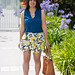 leomon print skort, teal blouse, jeweled sandals-5.jpg