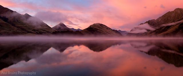 Moke Lake Dawn Panorama