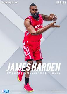 ENTERBAY – NBA 系列【詹姆士.哈登】大鬍子 James Harden 1/9 比例人偶作品