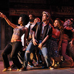 Members of the cast in a scene from the SpeakEasy Stage Company production of IN THE HEIGHTS, extended now thru June 16 at the Stanford Calderwood Pavilion at the Boston Center for the Arts, 527 Tremont Street in Boston's South End.  Tix/Info:  617-933-8600 or www.SpeakEasyStage.com</a>.  Photo:  Craig Bailey/Perspective Photo.