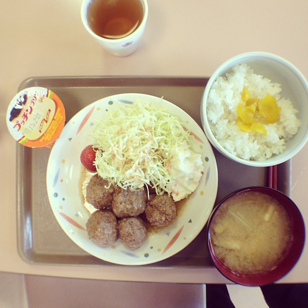 Special school lunch in #Japan for entrance exams.
