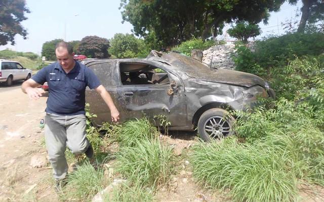 accidente en colinas del sur, en la circunvalación 1