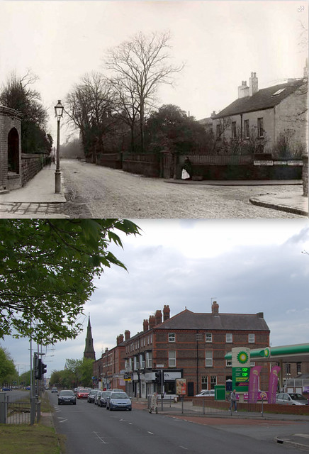 Aigburth Road, Grassendale, 1906 and 2013