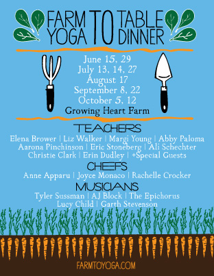 farm to table yoga dinner