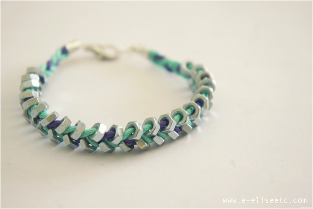 diy hex bracelet 8