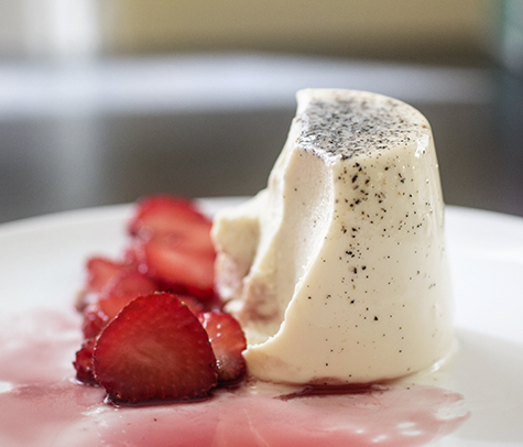 Black Pepper Panna Cotta (half eaten)