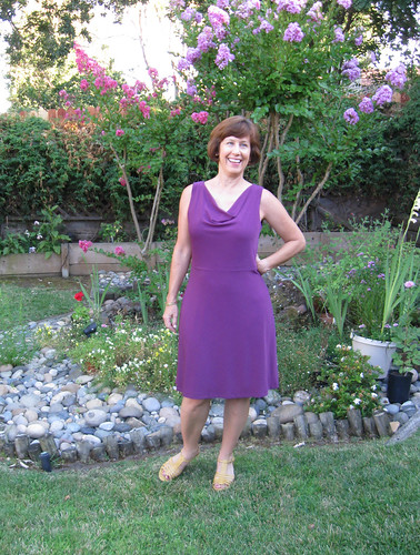 Vogue 1351 Purple knit dress front
