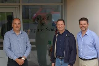 Dean Dearle, Professor Quigley with Professor Stasko