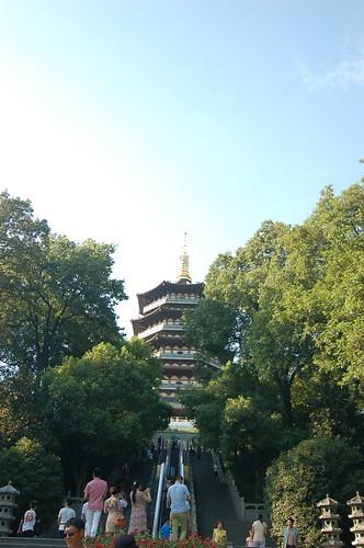杭州西湖雷峰塔