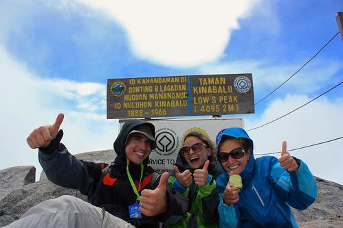 Me, Lina and Dina at Low's Peak on top of Mt. Kinabalu