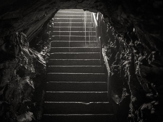 Uninviting stairs