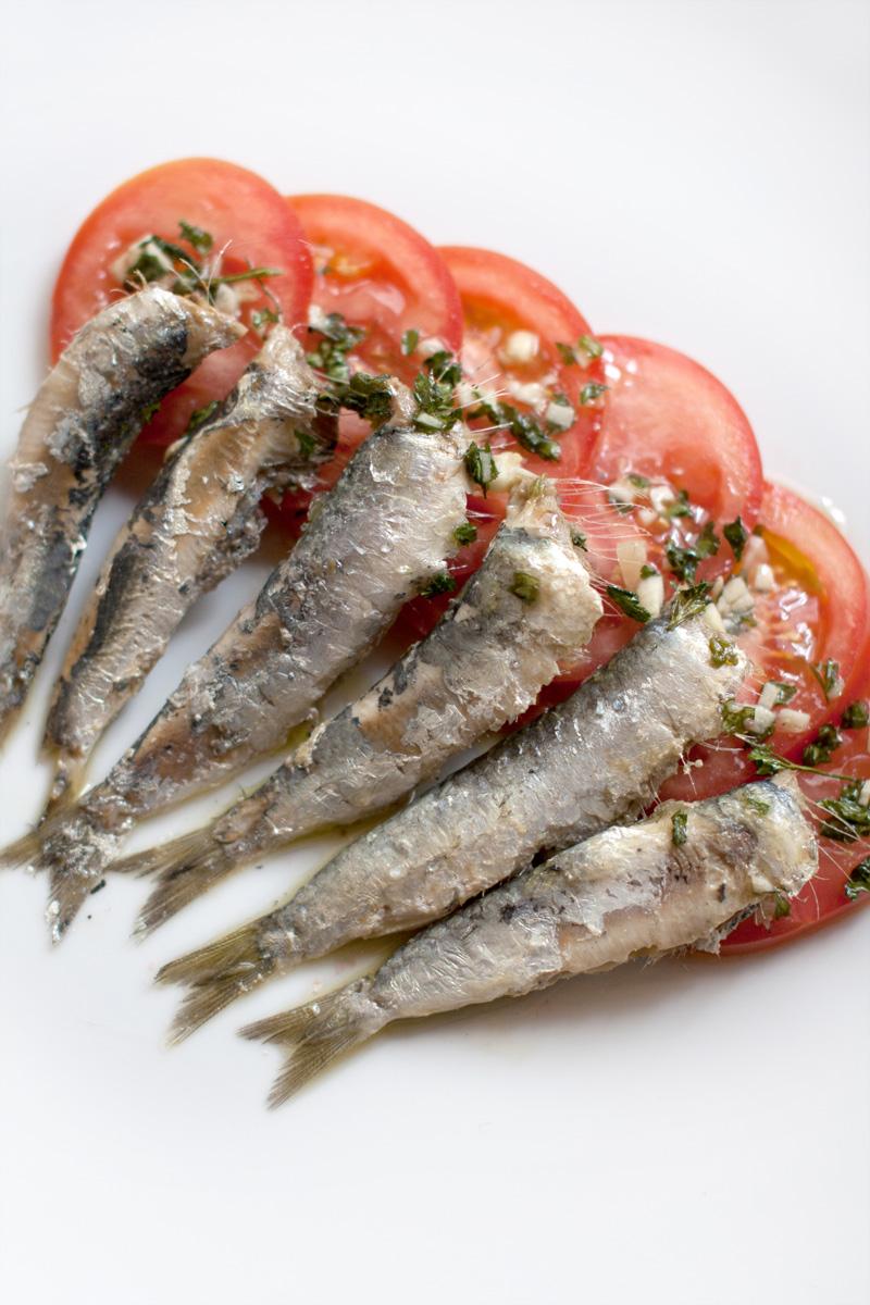Ensalada de sardinas al vapor