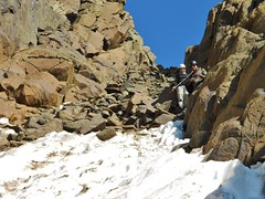 Looking Back To the Top of the Gully