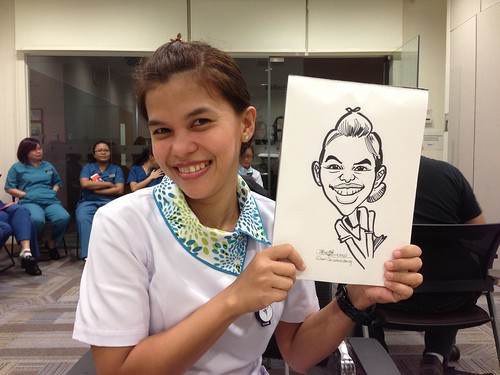 caricature live sketching for Nurses' Day 2013
