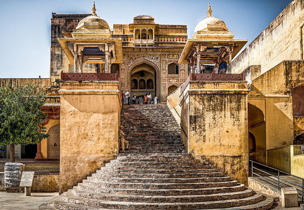 Steps leading into Amber Fort