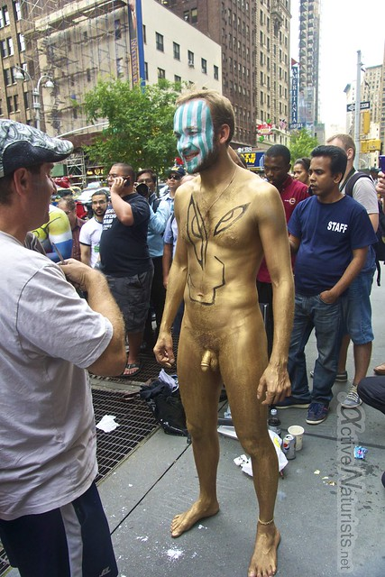 naturist 0010 body paint art, Times Square, New York, NY, USA
