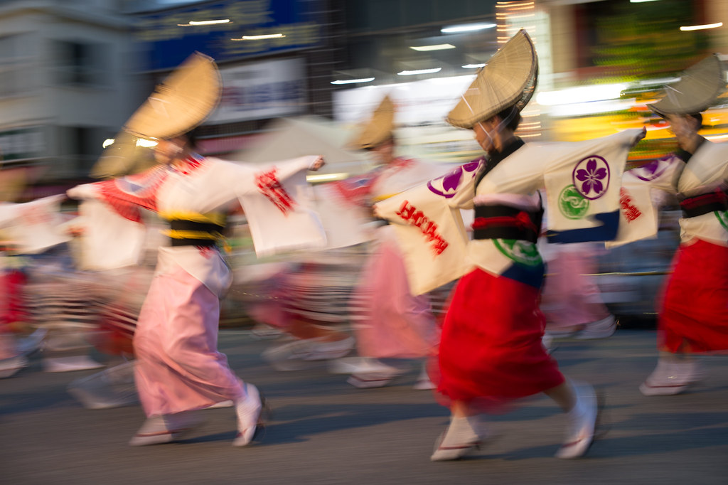 Panning of awaodori