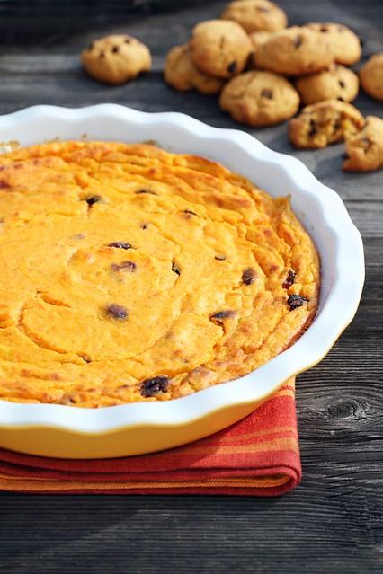 Kõrvitsa-kohupiimavorm. Pumpkin and curd cheese.