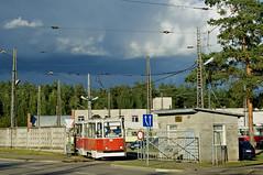 Am Ende der Strecke zur 'Butlerova iela' befindet sich der Betriebshof des Straßenbahnbetriebs und wird von den Linien 1 und 2 zum Wenden genutzt. KTM-5 Wagen 103 beginnt eine neue Runde auf der Linie 1 zum Bahnhof