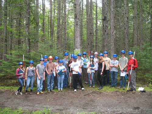 "In July, 19 students from Maine, Massachusetts, New York, New Jersey, Connecticut and Rhode Island participated in the week-long ""Discover the Forest"" camp, the first forestry camp for high school students at the University of Maine."