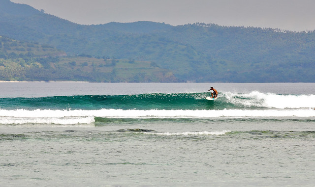 Surfing in Gili Trawangan