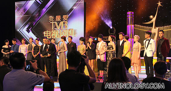 All the TVB stars on stage