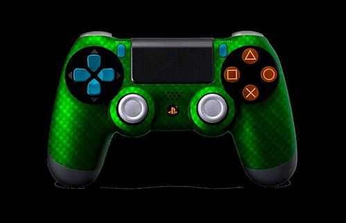 PS4Controller-GreenSilverCarbonFiber