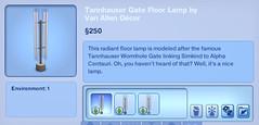 Tannhauser Gate Floor Lamp by Van Allen Decor