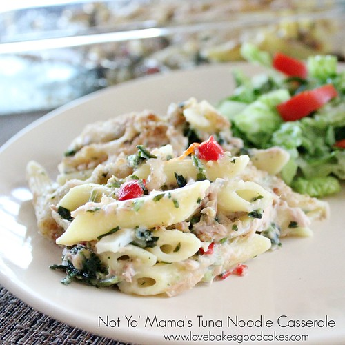 Not Yo' Mama's Tuna Noodle Casserole | Love Bakes Good Cakes