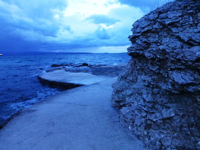 blue twilight in Croatia