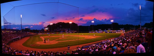 sunset usa field clouds baseball ryan troy upstate bruno minorleague hvcc hudsonvalley houstonastros valleycats tricity grennan thejoe nypennleague josephlbrunostadium rgrennan