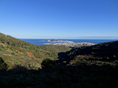 Ceuta: view on the city from the western mountain.