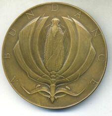Turkey medal by Albert Laessle reverse