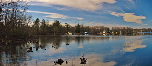 trees sky panorama lake water clouds canon reflections pond shoreline powershot a510 uppergreenwoodlake smack53
