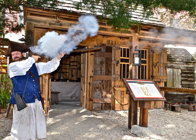 Musket drill - colonial quarters st. augustine