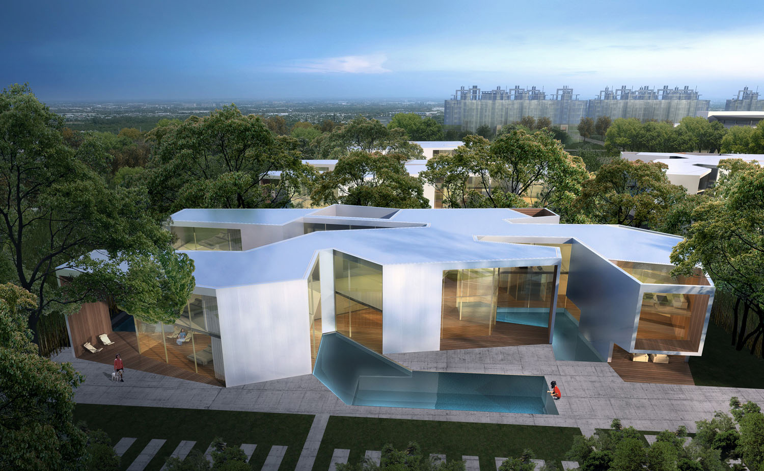 Shanghai Flower Garden Square design by Real Time Architecture (RTA-Office)